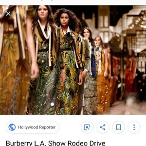 Burberry porsom gown embroidered with mirrors